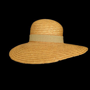 Vintage Woven Sun Hat with Band Sears Fashions USA